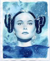 Amidala Watercolor Study by mikemayhew
