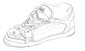 contour of my shoe by ThawedIceMan