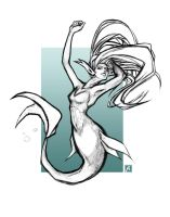 Mermaid Sketch by PictorIocus