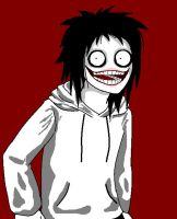Jeff The killer little draw by Riw-BloodyUsagii