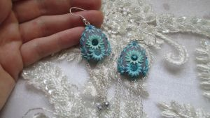 Polymer clay Earrings by LenaHandmadeJewelry