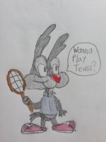 Calamity Coyote Ready to Play Tennis by nintendolover2010