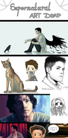 Supernatural Fanart Dump by RekalaRain