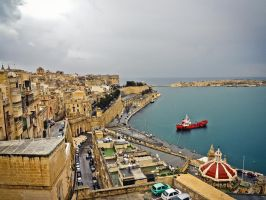 Port in Valletta by Ajumska