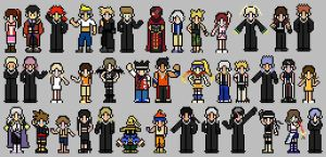 Kingdom Hearts Sprites by ThuhJesheekuh