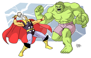 Thor and Hulk by BezerroBizarro
