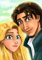 Tangled Lovers by applejaxshii