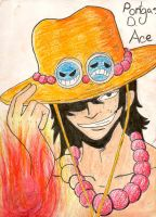 Portgas D. Ace Colored by CanadianGothStalker