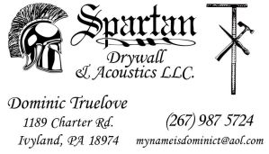 Spartan Drywall Business Card by TrueLovePrevails