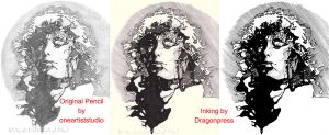 Jimmy Page: Ink Collaboration by DragonPress