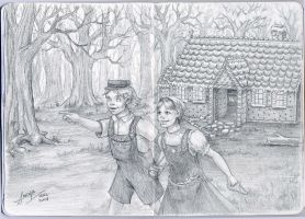 Hansel and Gretel Escape by adiehltwin