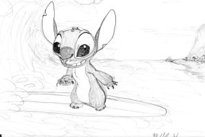 Stitch Surfboard- Sketch by Stitchfan