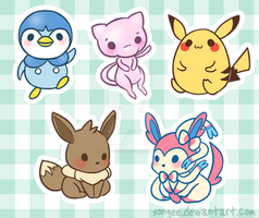 derpy pokemon charms by sleepypandie