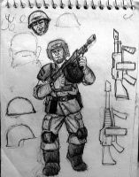 Imperial Guard infantry by AlexandrosIII