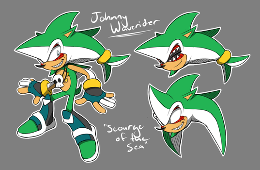 Johnny Waverider - ''Scourge of the Sea'' by Cylent-Nite