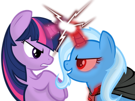 Twilight vs Trixie by Godoffury