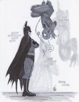 QIS - Batman Scolds Spider-Man by Kanthara