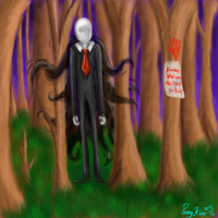 Slendy in the Forest by LunaticLunic