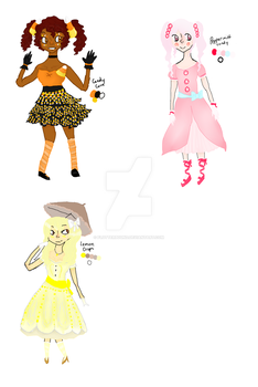 Adoptables Candy dolls part 1 180 points each by FlutterBound