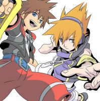 Dream Drop Distance- Sora and Neku by Chiaki39