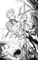 Aquaman Pencils by hanzozuken