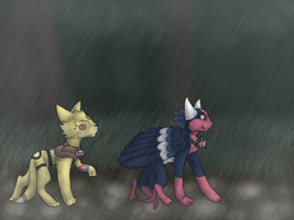 Collab with HawksFeathers97 by FireBurstCat