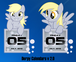 Derpy Hooves Calendars V2.0 by SNX11