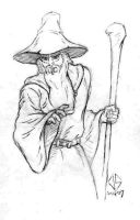 Sketch: Gandalf by JasonShoemaker