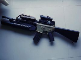 SR-16 Vltor Custom with M203 by sudro
