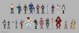 Mass Effect: Shepard + Company by thecapturedspy