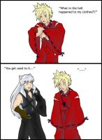 Cloud Strife meets Inuyasha by Caliosidhe