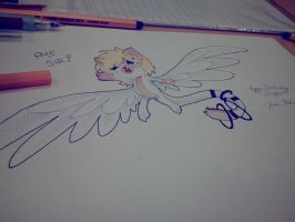 Saga the exceed ((Happy Bithday!!)) by Drawing-Heart