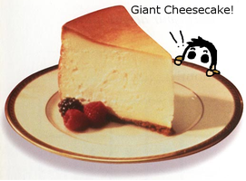 Masky and Giant Cheesecake by Subject001