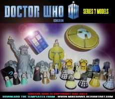 Doctor Who - Series 7 Models by mikedaws
