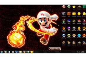 my mario wallpaper and icons by afronoodles