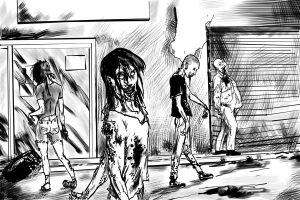 zombies sketch by VictorMV