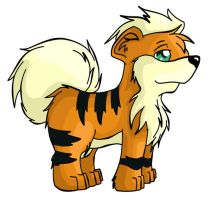 Growlithe by ChibiTigre