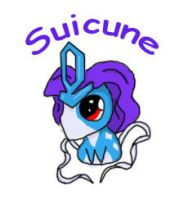 Suicune Chibi by AmyWolfie