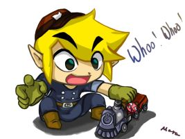 Link and teh Chuchu train by LunarMew