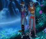 Gift- Me and Christine Avatar Style by Supremechaos918