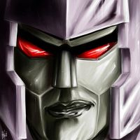 Megatron face by Daelyth