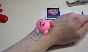 Kirby gives me a tattoo by llKirbyXll