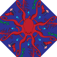 Radial Octopus by pastasauce