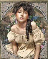 Evelyn Nesbit - Art Nouveau by jdesigns79