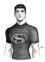 Superboy-sketch by carvalhooak