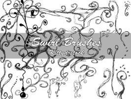 Swirl brushes Stamps by Kittyd-Stock