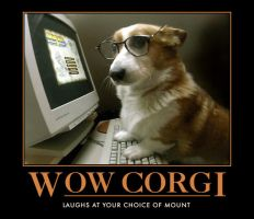 Corgi likes WOW by Ink-tail