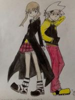 Soul and Maka by 8888DeathTheKid