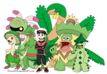 Pokemon Sapphire Mono Grass Team by Staceyk93