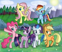 The Mane Six by Jrenon